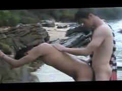 Fuck on the beach - fudendo na praia