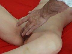 Fingering mature pussy until orgasm