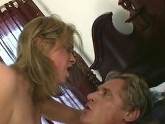 Nadia gets assfucked and creampied