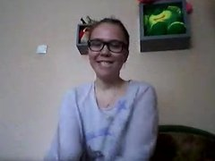 Cut russian on web cam