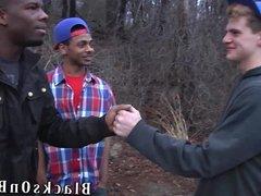 Sam Tyson Handles Two Black Cocks