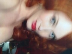 Big tited Christina Hendricks Cumtribute
