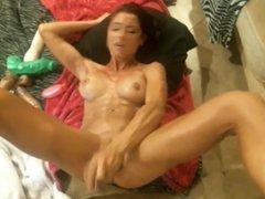 1 Pussy 2 Big Dildos Squirting Orgasm