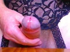 Pink Plug And Gartered Stockings