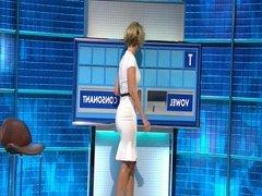 Rachel Riley - Sexy Arse - White Dress