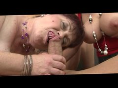 3 bbw mature woman with huge tits fucks guy
