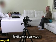 Casted czech babe gets oral before fucked