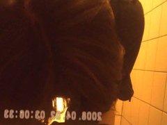 caught hidden toilets brunette shaved sazz
