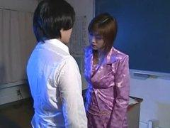 Japanese redhead handjob (uncensored)