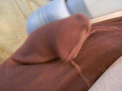 TINY PENIS IN BROWN SLEEVE PANTIES