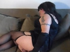 Sissy in Chastity Fucks Her Ass SAMPLE