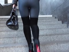 gangbang slut in high heels starving of cum