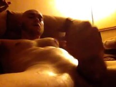 Str8 muscle daddy on couch