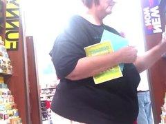 Granny braless big saggy tits