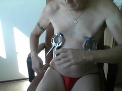 Nipple clamps torture