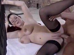 pregnant black stockings
