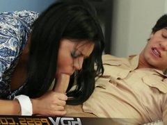 HDVPass Busty Eva Angelina Sucks Rides Cock Hard