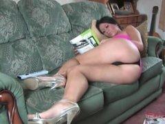 babe upskirt on sofa