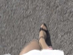 Pantyhose Outdoor part 3 of 6