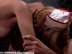 Slut nurse fucking a cop in a back room