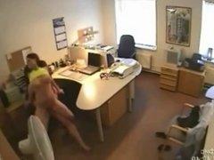 Secretary Fucking caught on Security Camera