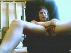 Latina with gorgeous tits masturbates