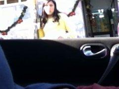 flashing in the car 8