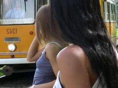 Lesbians public nudity