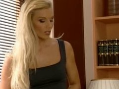 Threesome with the hot blonde therapist