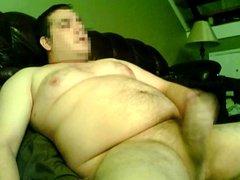 Huge cumshot on cam