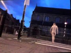 Nude in Public - Crossing road