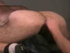 Fisting a Hairy Daddy