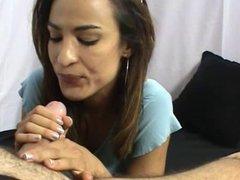 Nice latina handjob with cumshot