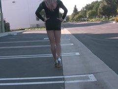 Mini Dress!!! BENDING OVER!!