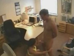 Cheating Wife Fucking Lover at the office on Hidden Cam