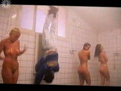Showering Group Of Babes Meet Peeping Tom