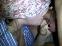 Blindfolded Amateur Swordswallowing Blowjob