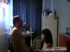 Russian amateur couple fucking at home 5