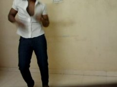 Sexy indian hunk stripping and jerking