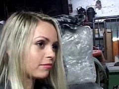 Sabrina in car repair part1