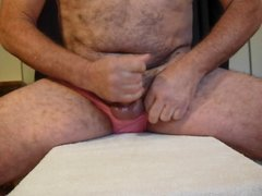 cumming in my wife's pink panties for a XHamster friend