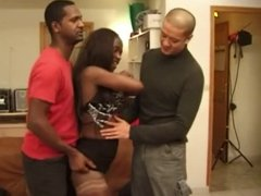 Rebecca fucked in a threesome