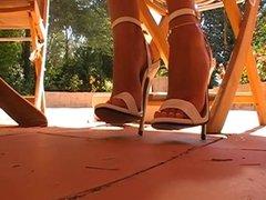 6.5 inch sandals dangling