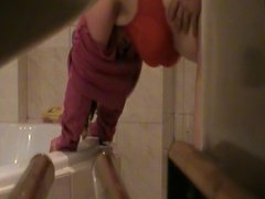 bbw molli im bad heimlich von hinten gefickt