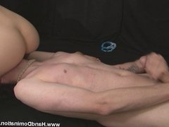 facesitting blonde smothers slave until he cums