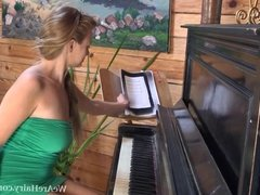 Claire G is a good piano player