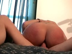 Cute chick banging a big hard cock