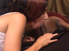 Brunette Likes Dark Meat In Her Ass