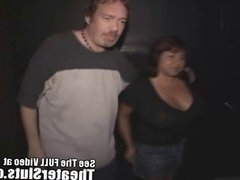 Big Breasted Latina MILF Gets Cum Covered In A Porn Theater
