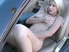 Blonde Masterbates in the Car by snahbrandy
